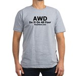 AWD - Do It On All Four - Men's Fitted T-Shirt