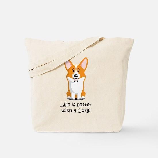 Pembroke Welsh Corgi Tote Bag