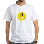 Eight Silhouette White T-Shirt