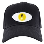 Eight Silhouette Black Cap