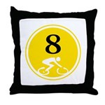 Eight Silhouette Throw Pillow