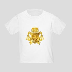 Gold Football Uruguay Toddler T-Shirt