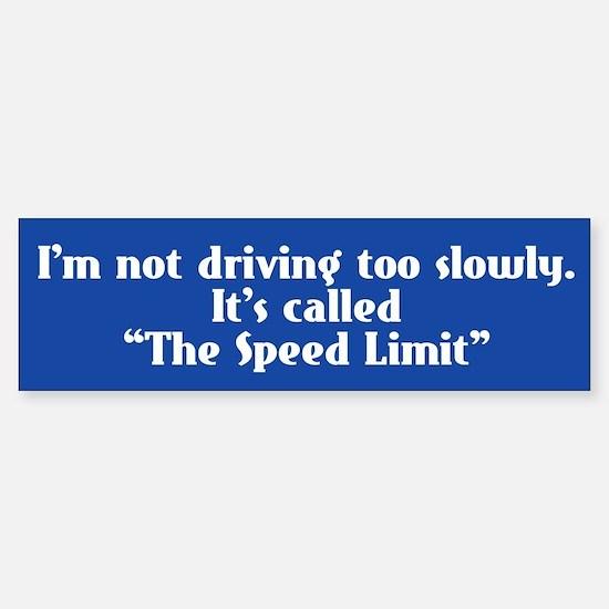 Speed Limit Not Slow Sticker (Bumper)