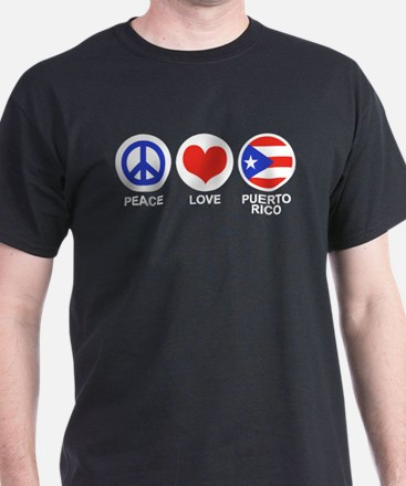 Peace Love Puerto Rico T-Shirt
