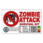 Zombie Attack Survival Kit Stickers