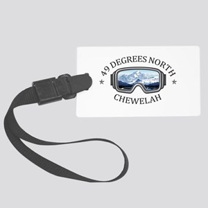 49 Degrees North Ski Area - Ch Large Luggage Tag