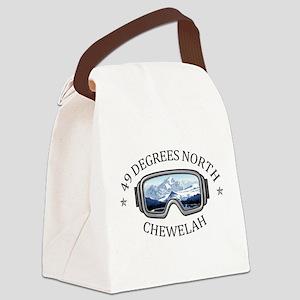 49 Degrees North Ski Area - Che Canvas Lunch Bag