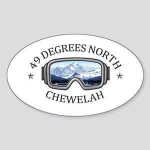 49 Degrees North Ski Area - Chewelah - W Sticker