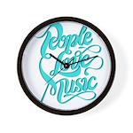 People Love Music Clock
