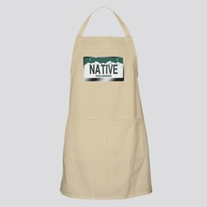 """NATIVE"" Colorado License Plate Apron"