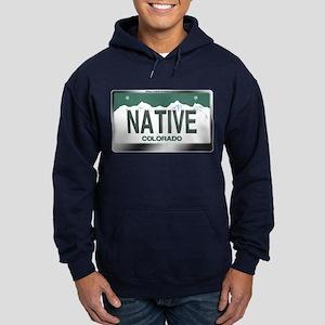 """NATIVE"" Colorado License Plate Hoodie (dark)"