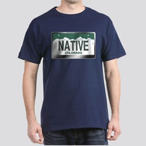 """NATIVE"" Colorado License Plate Dark T-Shirt"