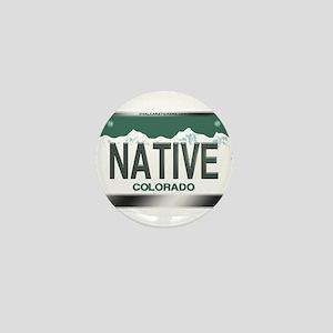 """""""NATIVE"""" Colorado License Plate Mini Button"""