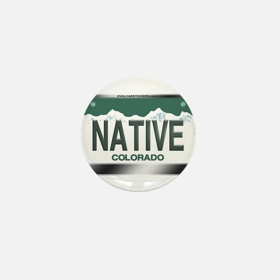 """NATIVE"" Colorado License Plate Mini Button"