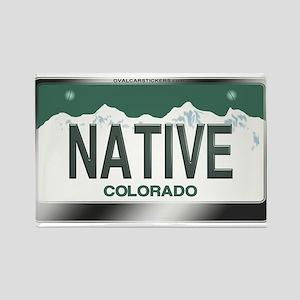 """NATIVE"" Colorado License Plate Rectangle Magnet"