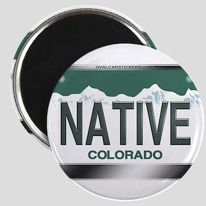 """NATIVE"" Colorado License Plate Magnet"