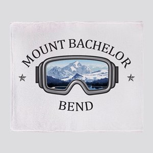 Mount Bachelor - Bend - Oregon Throw Blanket