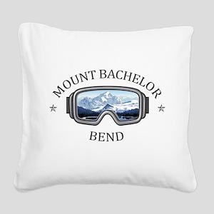Mount Bachelor - Bend - Ore Square Canvas Pillow
