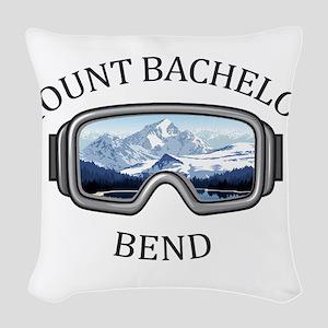Mount Bachelor - Bend - Oreg Woven Throw Pillow