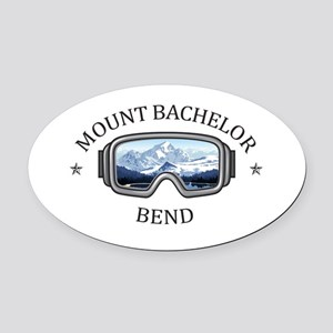 Mount Bachelor - Bend - Oregon Oval Car Magnet