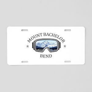 Mount Bachelor - Bend - O Aluminum License Plate