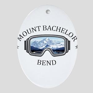 Mount Bachelor - Bend - Oregon Oval Ornament
