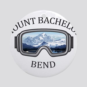 Mount Bachelor - Bend - Oregon Round Ornament