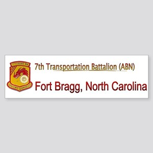7th Transportation Bn Sticker (Bumper)
