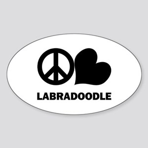 Peace Love Labradoodle Sticker (Oval)