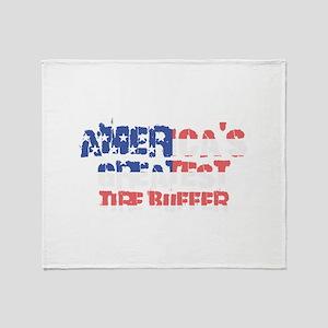 America's Greatest Tire Buffer Throw Blanket