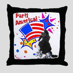Parti America #1 Throw Pillow