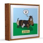 Viking Wiener Dog 12x12 Canvas Print