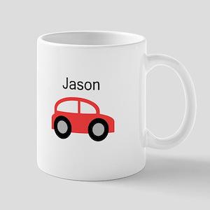 Jason - Red Car Mug