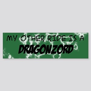 My other ride is a DragonZord Sticker (Bumper)
