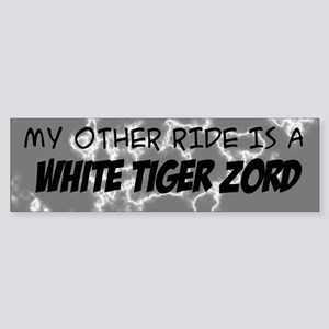 My other ride is a White Tiger Zord Bumper Sticker