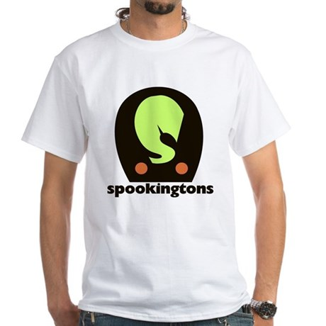 Spookingtons Logo White T-Shirt