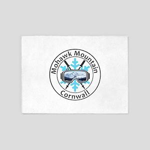 Mohawk Mountain Ski Area - Cornwa 5'x7'Area Rug