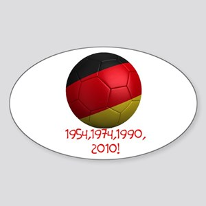 Germany Wins! Sticker (Oval)