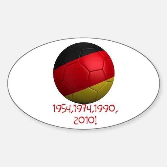 Germany Wins! Sticker (Oval)