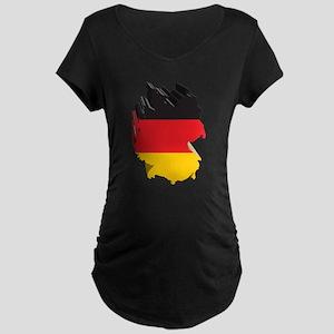 3D Map Of Germany Maternity Dark T-Shirt