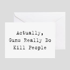 Guns Kill People Greeting Cards (Pk of 10)