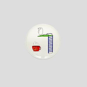 accro de cafe/coffee addict Mini Button