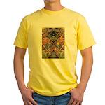 African Mysticism Yellow T-Shirt