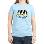 One by one, the penguins. Women's Light T-Shirt
