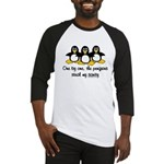 One by one, the penguins. Baseball Jersey