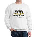 One by one, the penguins. Sweatshirt