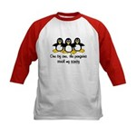 One by one, the penguins. Kids Baseball Jersey