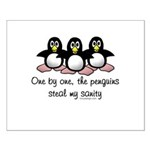 One by one, the penguins. Small Poster