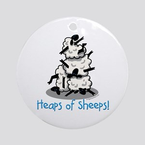 Heaps of sheeps farmer Ornament (Round)