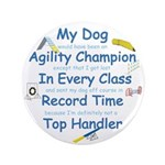 """Agility Champion 3.5"""" Button (100 pack)"""